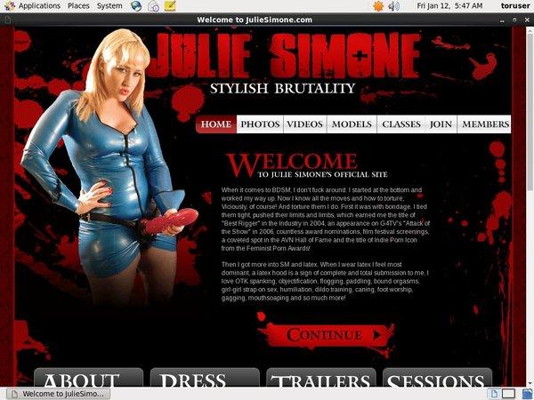 Become Julie Simone Member