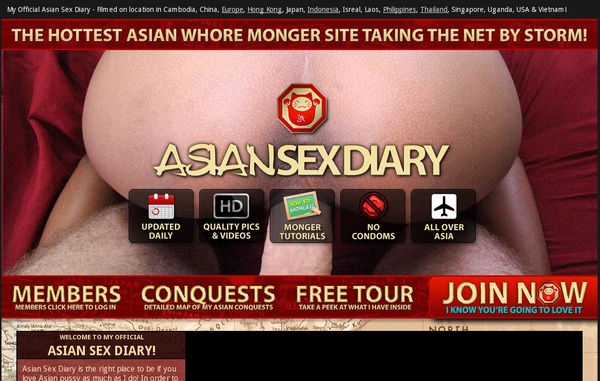 Free Asiansexdiary.com Username And Password