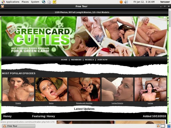 Green Card Cuties With Credit Card
