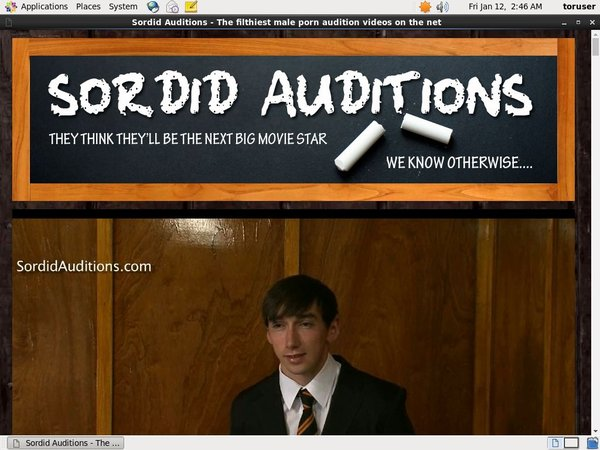 New Free Sordid Auditions V2 Account