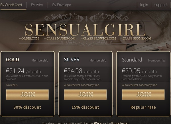 Sensualgirl Membership Account