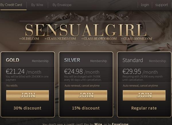 Sensualgirl.com Signup Form