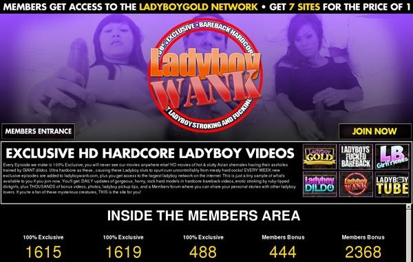 Ladyboywank.com Cuentas Gratis