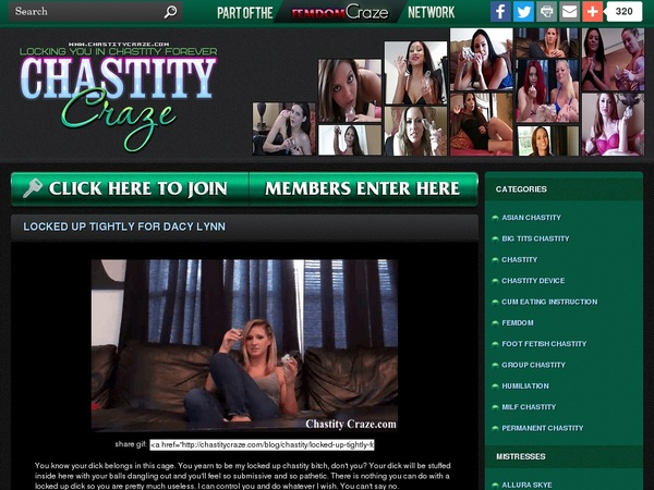 Chastitycraze Gratis Password